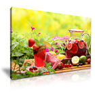 SUMMER FRUITS JUICE Canvas Framed Print Restaurant Deco - More Size