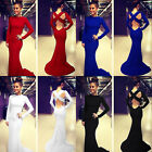 2015 Sexy Women Prom Ball Gown Cocktail Formal Evening Party Halter Wrap Dresses