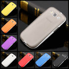 Soft Ultra-Thin Translucent Rubber Bumper Case Cover For Samsung Galaxy S3 i9300