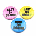 Baby on Board  - Button Badge - 25mm 1 inch- Choice of 3 Colours