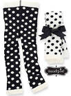 NEW Mud Pie Diva Fuzzy Dot Leggings Black White  0-6M, 9-12M, 12-18M, 2T-3T