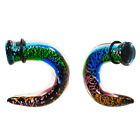 PAIR Psychedelic Dichro Pyrex Glass Talon Taper 8g-00g