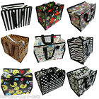 10 DESIGNS RECYCLED ECO LADIES KIDS LUNCH SHOPPING TRAVEL HAND BAG SPOTS ZEBRA