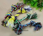 1x Puppy Dog Pet Cotton Hot Braided Bone Rope Chew Knot Toy,4 Size Random Color