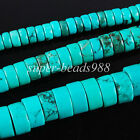 Natural Turquoise Gemstone Rondelle Spacer Beads 16'' Pick 4mm 6mm 8mm SBG147