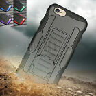 """Heavy Duty Hybrid Rugged Armor Hard Case Cover Holster For Apple iPhone 6 4.7"""""""