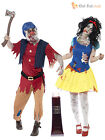 Zombie Snow White + Dwarf Couples Halloween Fancy Dress Costumes Ladies Mens