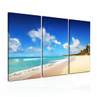NATURE Seascape 3 3-A Canvas Framed Printed Wall Art ~ 3 Panels ~ More Sizes