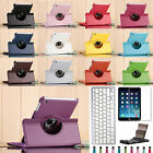 Rotating Stand PU Leather Case Cover With Bluetooth Keyboard For Apple iPad mini