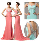 Bling Bead Formal Evening Cocktail Party Dress Prom Bridesmaid Empire Waist Gown
