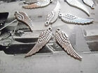 Angel Wing Charms Pendants-30mm-Angel Wings-Silver-Wholesale Lot 25 50 100pcs