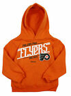 Reebok NHL Hockey Kids Philadelphia Flyers Custom Fleece Hoodie - Orange