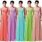~FREE SHIP~ NEW Long V Neck Prom Formal Evening Pageant Gown Wedding Party Dress