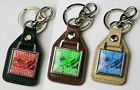 "Put ""YOUR ART / DESIGN WORK on a CUSTOM LEATHER KEYRING!  Made To Order - NEW!"