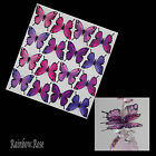 Transparent Film Butterfly #18 size 3 PINK LILAC 8, 16 or 32 UNCUT suncatcher 3D