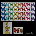 Transparent Film Butterfly #19 MIXED Size 3 UNCUT 8, 16 or 32 suncatcher 3D