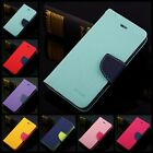 "Dual Color Deluxe Wallet Leather Flip TPU Case Stand For iPhone 6 4.7"" 4S 5 5S"