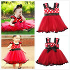 New Girls Baby Kids Toddlers 3-20M Princess Polka Dot Dress Layered Tutu Clothes