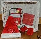 Mamas Papas UNISEX 1ST XMAS SANTA HAT & MITTENS IN MUSICAL KEEPSAKE BOX £18 NEW