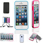 Stylish Crystal Soft Ultra Thin Transparent Cover Back Hard Case For iPhone 5 5G