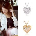 Fashion Women's Plated Hollow love leaves Sweater Chain Charms Necklace Pendant
