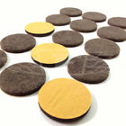30mm, SELF ADHESIVE FELT GLIDE ROUND PADS BROWN PROTECT LAMINATE FLOORS SCRACHES