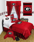 Georgia Bulldogs Comforter & Sheet Set Twin to Queen Locker Room