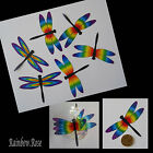 Transparent Film Dragonfly #51 CHAKRA Size 5 PRE-CUT 3, 6 or 12 suncatchers 3D