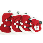 SANTA DOG SUIT PET STYLE HOODY HOODIE COAT CLOTHES WARM COSY COSTUME XMAS FUN