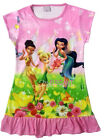 Disney Tinkerbell Iridessa Silvermist Kids Girls Dress Pajama Skirt 3-10 Yr Pink