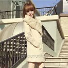 New winter womens Lady FASHION Caroset outwear fur collar coat jacket lapel Tops