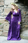 Medieval-Pagan-LARP-Cosplay-Wicca- Fantasy Purple Weddding Dress All Sizes
