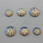 12/14/16mm AB Round Resin Rhinestones Resin crystal Flat Back Beads ZZ13