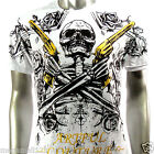 Artful Couture T-Shirt M L XL XXL Skeleton Skull Gun Tattoo WWE Heavy Metal AW5