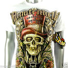 Minute Mirth T-Shirt Tattoo Skull Graffiti H65 Sz S M L XL bmx Skate Board D1