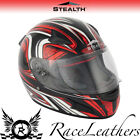 STEALTH HD188 DAISHO RED FULL FACE MOTORCYCLE MOTORBIKE BIKE HELMET SUN VISOR