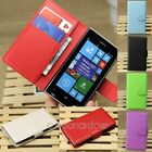 Folio Flip PU Leather ID Credit Card Wallet Case Cover Pouch For Nokia Lumia 520