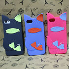 Fashion Cute 3D 2 IN 1 Animal Cat Soft Rubber Cover Case For Apple iPhone 5 5S