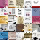 Words Letters Quotes Vinyl Art Removable PVC Wall Stickers Home Room Mural Decor