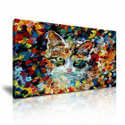 MODERN ART Cat Canvas Framed Print Wall Deco ~ More Size