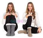 Womens Non Slip Grip House Lounge Socks Ladies Winter Fleece Slippers Sherpas