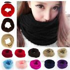 Lady Women's Long Candy colors Scarf Wraps Warm Infinity Circle Cable Knit Cowl