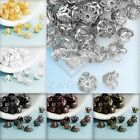 Approx 70-80Pcs Iron Filigree Flower Bead Caps Jewellery Findings 4x6x6mm