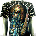 Survivor T-Shirt Biker Rock Tattoo S116 Sz M L XL XXL 3XL Grim Reaper Guitar mma