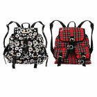 AZ20 Ladies Tartan Check Floral Print Rucksack Girls School Backpack Travel Bag