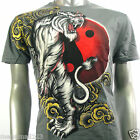 Artful Couture T-Shirt Tattoo Indie AG42 Sz M L XL XXL Tiger Yin Yang Japanese