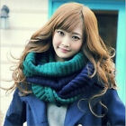 HOCA Winter Warm Infinity 2 Circle Cable Knit Cowl Neck Long Women Scarf Shawl