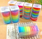 10Pc Colorful Washi Sticky Paper Masking Adhesive DecorationTape Scrapbooking