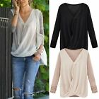 New Celebrity Fashion Women Long Sleeve Slim Chiffon Shirt Tops Blouse T shirt