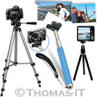 Camera Camcorder Tripod Stand & Extendable Mount SelfPortrait Telescopic Monopod